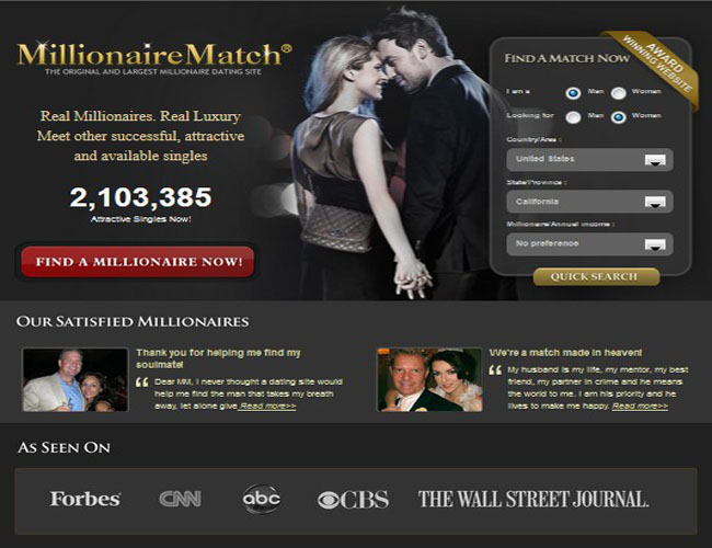 Online dating sites millionaire match